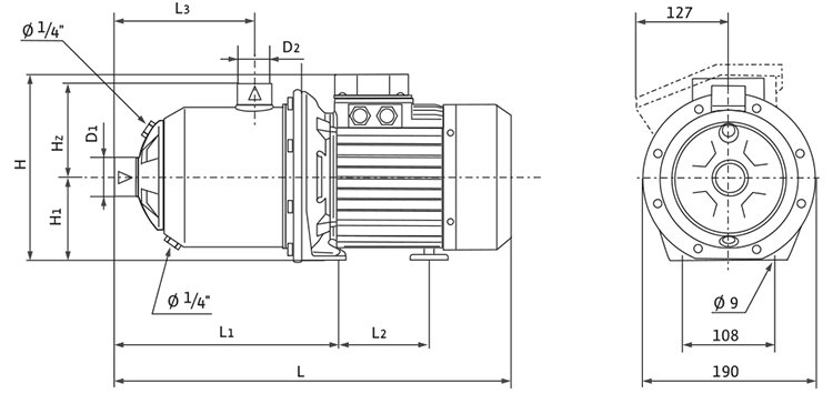 威乐变频增压泵 热水工程不锈钢变频增压泵-空气能热泵厂家