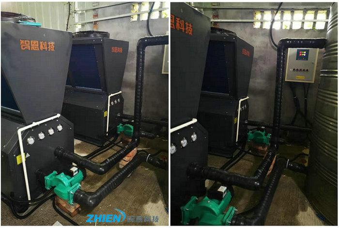 工厂生产热水工程:宁波巨藤陶瓷阀生产热水工程-空气能热泵厂家